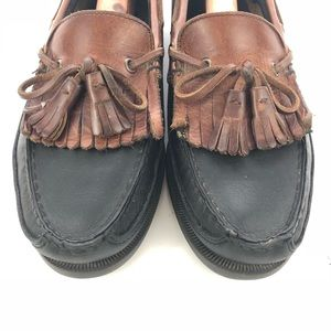 sperry shoes topsider boat men sz 8m black leather poshmark